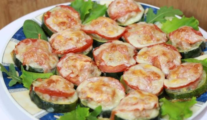 Рецепт кабачка с мясом в духовке с фото
