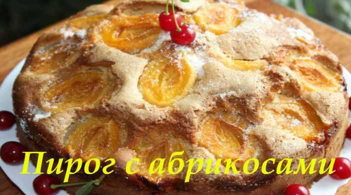 Пирог с абрикосами - 8 простых и быстрых рецептов очень вкусного пирога