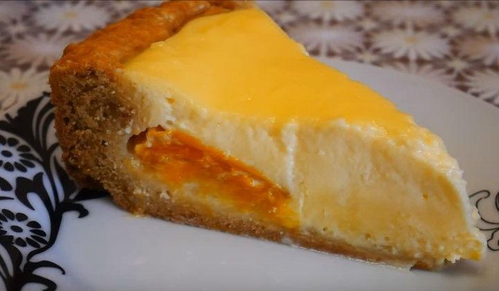 Песочный абрикосовый пирог