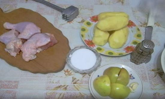 Продукты для ужина