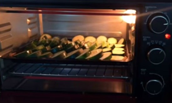 Zucchini in the oven baked