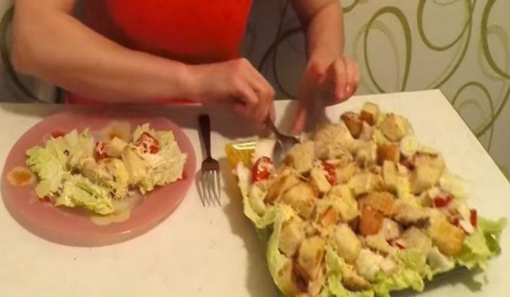 Рецепт салата цезарь домашний