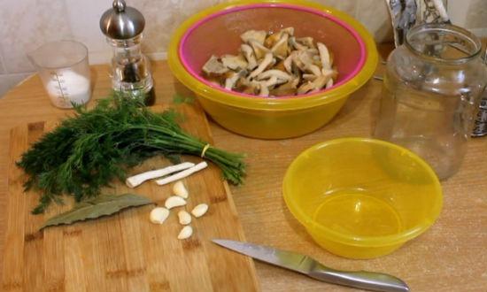 ингредиенты для засолки груздей