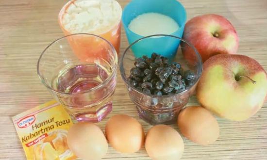 Необходимые ингредиенты для шарлотки