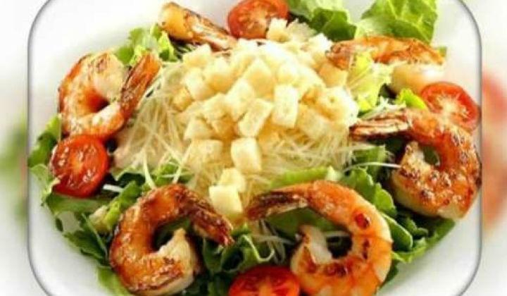 Салат цезарь с креветками в домашних условиях рецепт с