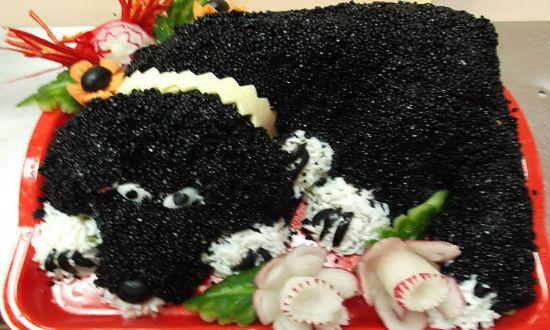Салат черный бим