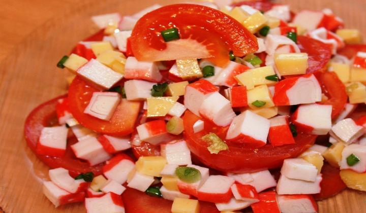 рецепт салатов с кукурузой и крабовым мясом рецепт