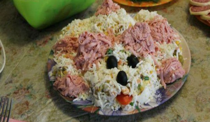 Салат лохматая собачка