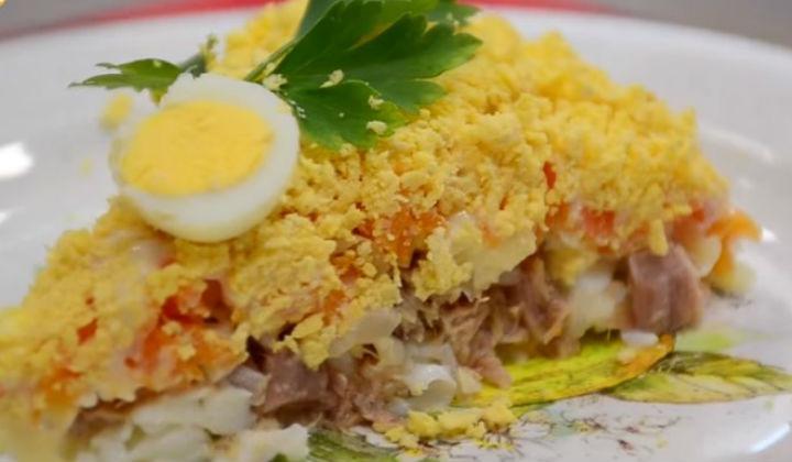 салат красная рыба мимоза рецепт
