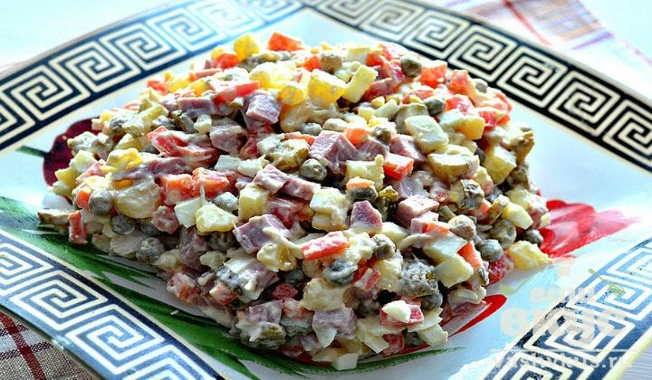 Салат оливье рецепт с колбасой