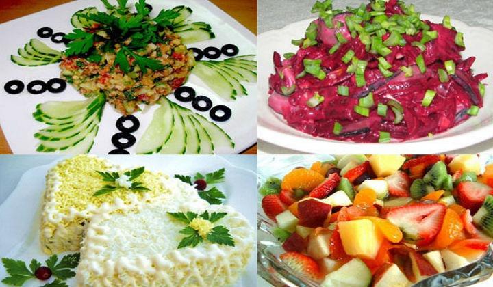 праздничные легкие салаты и закуски