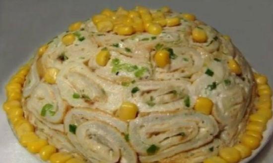 Готовый салат на день рождения