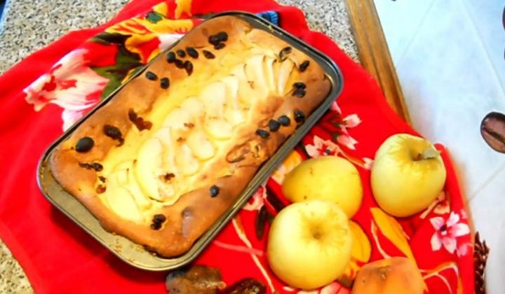 Рецепт творожной запеканки с яблоками