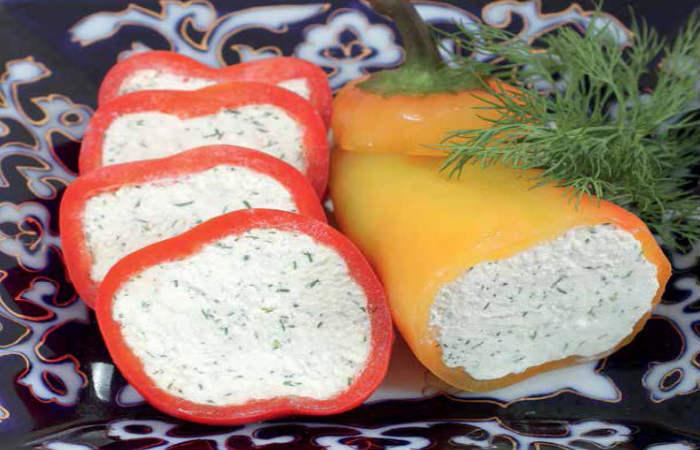 Закуска из перца с брынзой