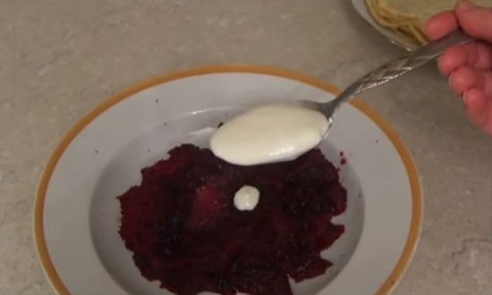 Cooking beets for decoration