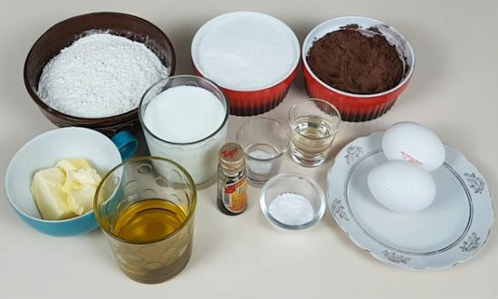 Продукты для торта