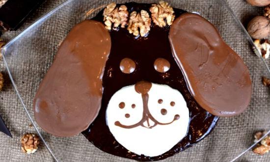 Готовый торт собачка