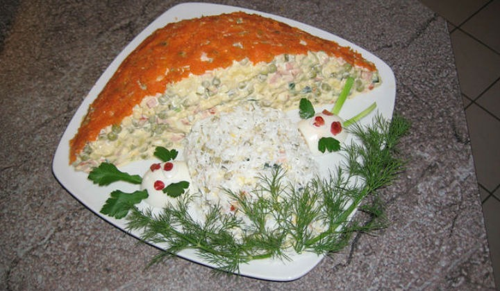 Салат оливье по новому рецепту