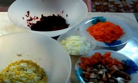 подготовленные овощи
