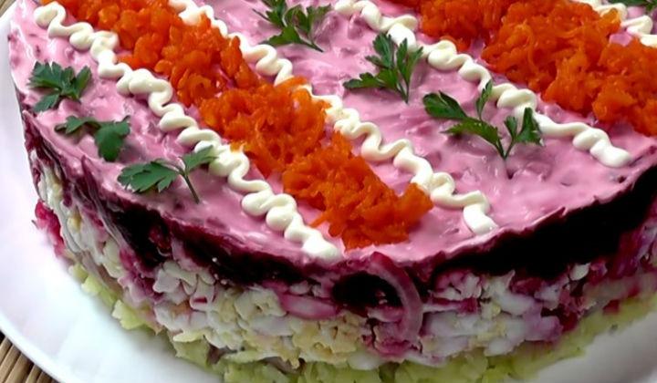 Нежный салат селедка по новому