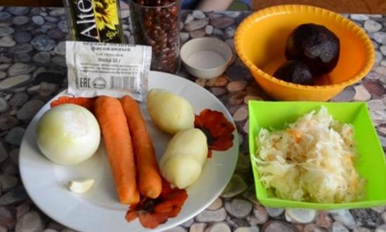 продукты для винегрета