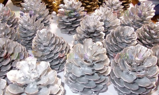 шишки серебро