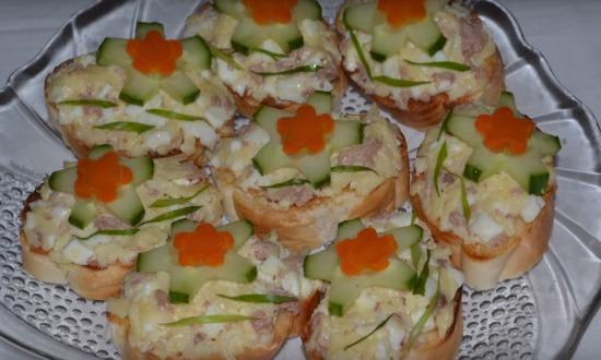 готовые бутерброды на праздничный стол