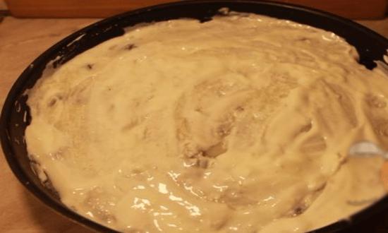 накрываем слоем картофеля