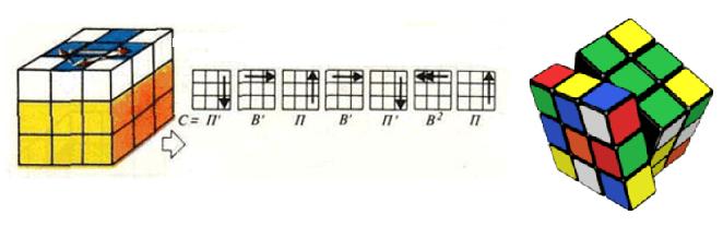 Схема сборки кубика