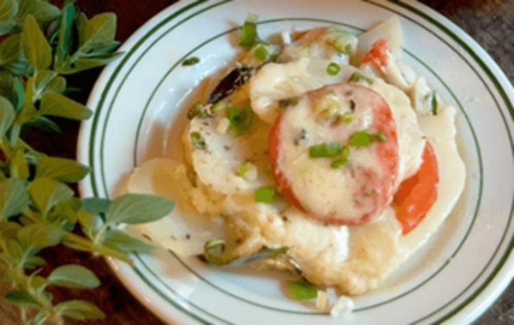 мясо по-французски из курицы с картошкой