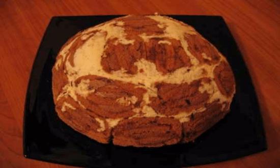 переворачиваем торт