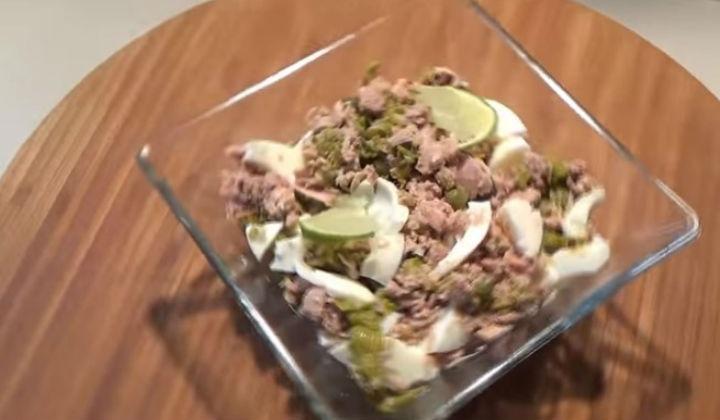 Салат с тунцом по дюкану