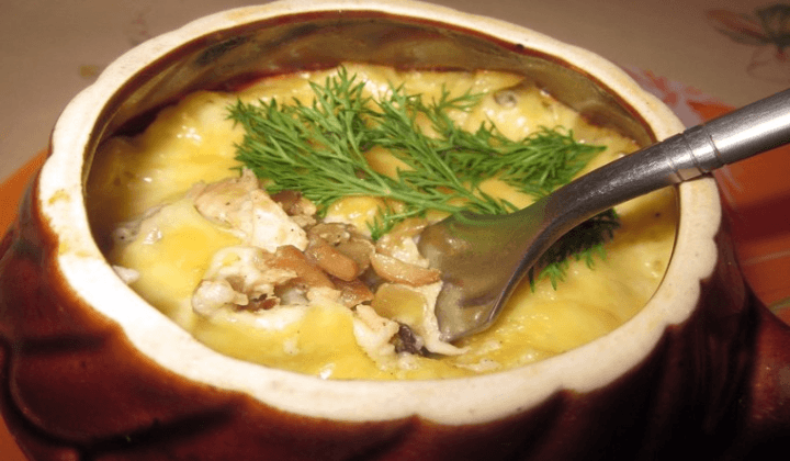 жюльен с картошкой
