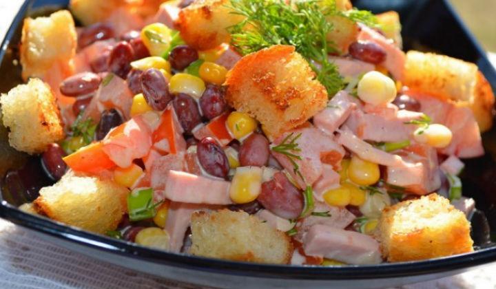 Салат с фасолью. Простые рецепты приготовления очень вкусных салатов