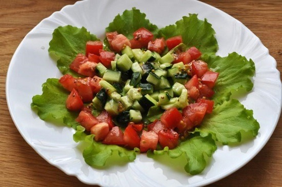 Выкладка салата