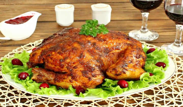 Курица в духовке целиком с хрустящей корочкой в фольге