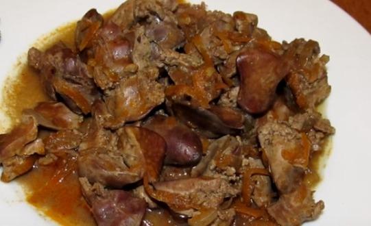 печень куриная в томате