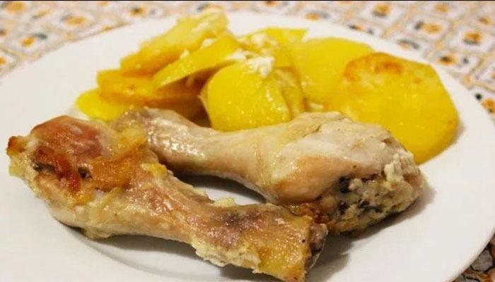 курица в майонезе с чеснаком (порция)