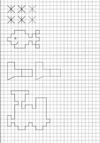 Рисунки по клеточкам в тетради для начинающих, лёгкие и сложные, для детей