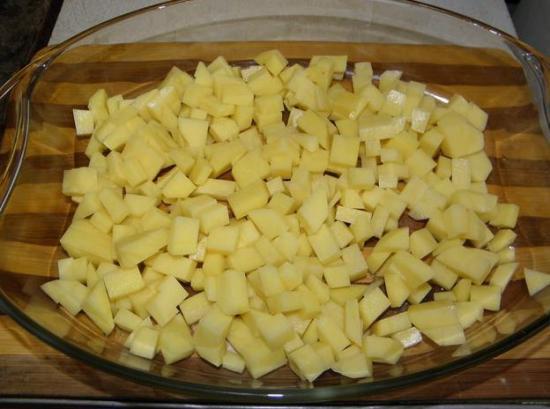 Кубики картошки