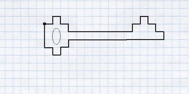 kluchik-1 Рисунки по клеточкам в тетради для начинающих, лёгкие и сложные