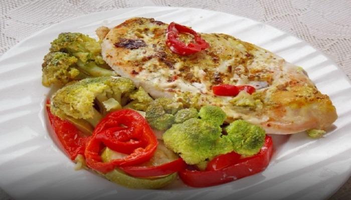 грудка с овощами