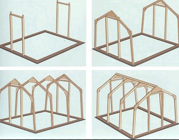 схема деревянного каркаса