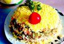 Салат с куриной печенью слоями. Простые рецепты вкусного салата