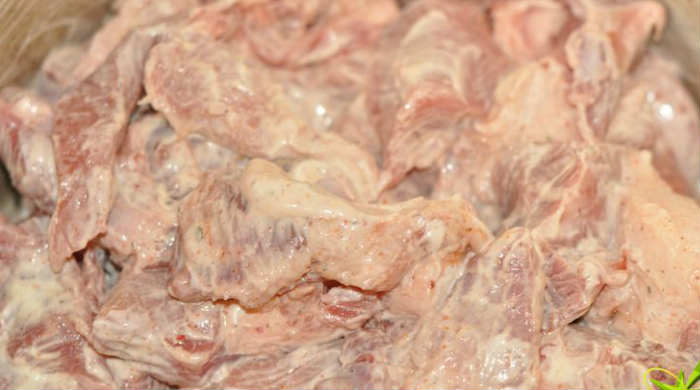 Шашлык из говядины с майонезом