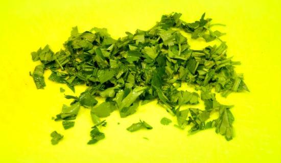 порезанная зелень