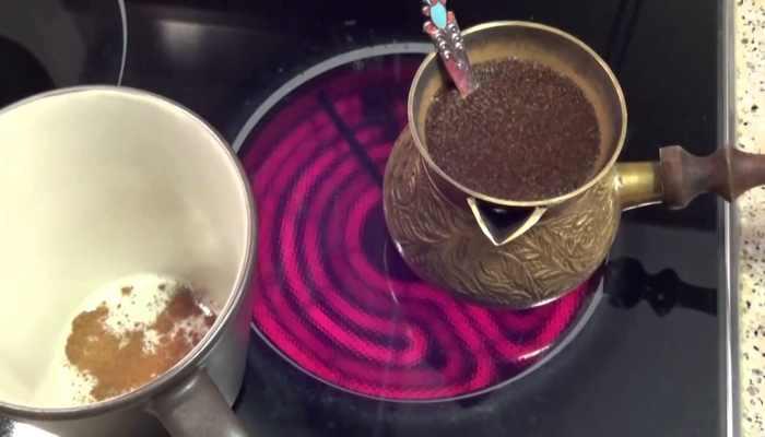 Варим кофе в турке на электрической плите