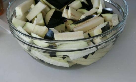 Резанные баклажаны