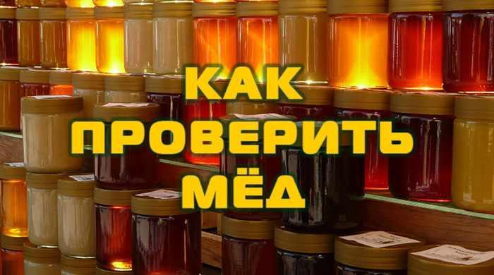 Как проверить мёд