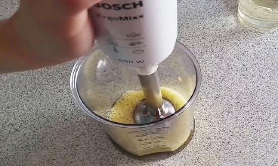 beat egg with salt